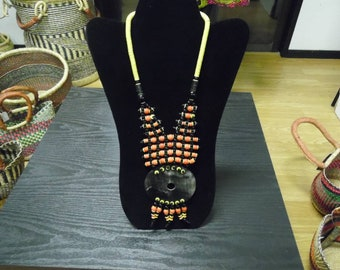 Tribal African Beaded Necklace