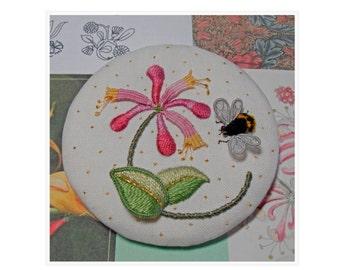 PDF Download - Miniature SWEET HONEYSUCKLE, Raised Embroidery Pattern