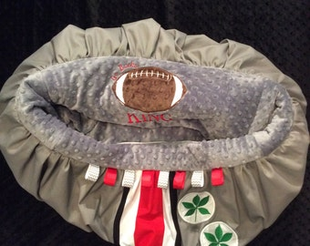 Ohio State Shopping Cart Cover/highchair cover/OSU/buckeye baby/Ohio State Cart Cover/football cart cover/sports shopping cart cover