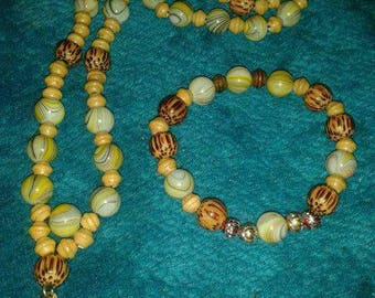 Set of Anglican Rosary beads and matching bracelet