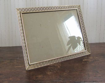 Vintage arabesque style photo frame, standing photo holder, late 40s / beginning of 50s