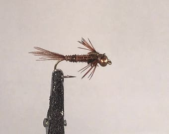 2 Size 12 Beadhead Pheasant Tail Flies for Fly Fishing