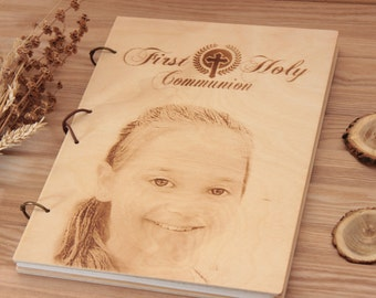 Personalized  first holy communion guest book