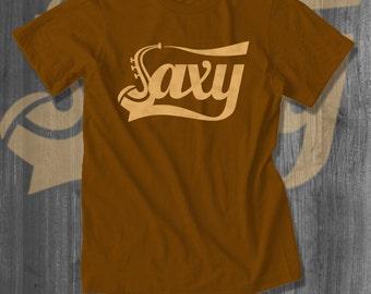 Saxophone SAXY T shirt Jazz tops and tees t-shirts t shirts| Free Shipping
