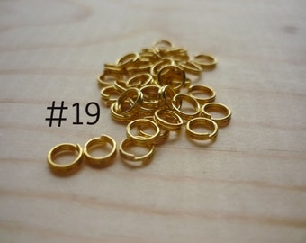 200+ Gold Plated Iron Split Rings, 5MM Split Ring, 5mm Jump Rings, Jewelry Findings, Jewelry Supply, Bulk, Gunmetal, Brass, Bronze, Silver