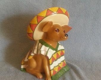 Cookie Jar - Treat Jar - Dog Theme - Chihuahua Theme - Clay Art
