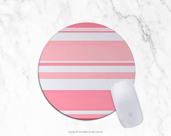 Pink Mousepad Stripes Mousepad Rectangle Mouse pad Beautiful Design Stripes Mouse pad Cute gift Office Computer Accessories 7