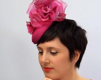 Pink Organza Rose Hat