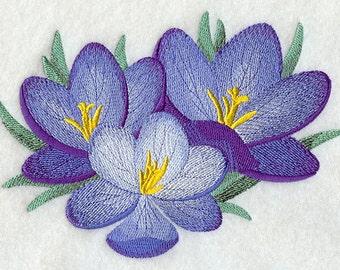 First Bloom Crocus Flower Flour Sack Hand/Dish Towel