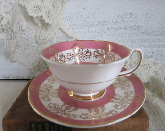Vintage Royal Grafton Bone China Tea Cup and Saucer Made in England Collector Gift for Mom