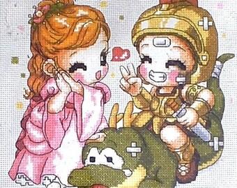 Counted cross stitch Kit original manga drawing Japanese