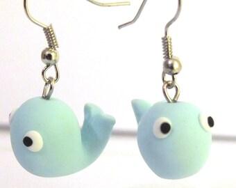2x whale earrings