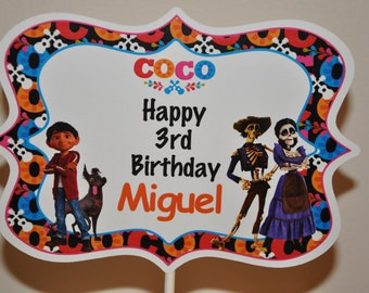 Coco Personalized Name Topper for Centerpieces