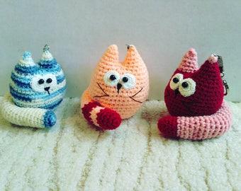 Keychain Cat / Amigurumi Cat / Crochet Backpack Cat / Keychain Kitty
