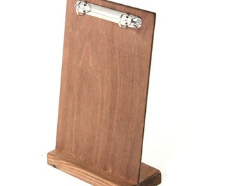 Tavistock Wooden Menu Board with Ring Binder. Restaurant. Cafe. Bar. - PBRINGMH1