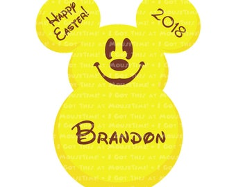 Easter Candy Ears Mickey - FIVE Color Options! - Iron-On OR Magnet