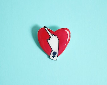 Lovely Middle Finger Brooch / Pin