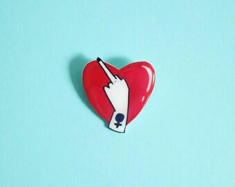 Lovely Middle Finger Brooch / Pin