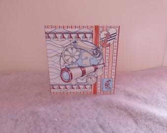 Card embossed 'sea' theme
