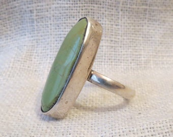 Chimney Butte Navajo Large Oval Sterling Silver Ring SZ 7