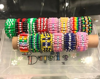 Personalized Safety Pin Bracelets Gift Accessory Kids Teen Camp Bunk Gift College Top Seller Must Have