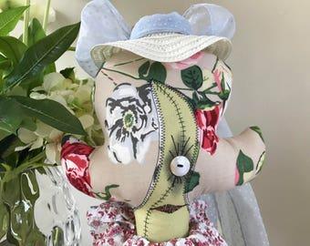Stuffed Art Doll Zombie Doll Shabby Shriek Country Girl