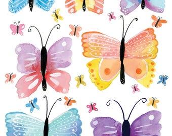 Butterflies | Watercolor