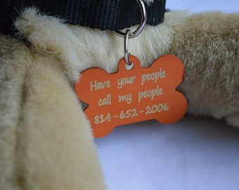 1 Personalized Dog Tag, Dog Bone Shaped Tag, Identification Tag, Pet Tag, Dog Tag, Engraved Dog Tag, Personalized Dog Tag, Dog Tag for Dogs