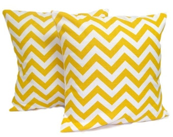 YELLOW PILLOW SET of Two. 20x20, 18x18 or 16x16 inch.Decorative Pillow Cover..Home Decor.Pillow.Pillow Cover.Yellow Cushions.Popular.cm