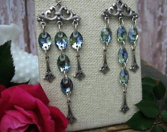 Chandelier Waterfall Earrings, Crystal Earrings, E16