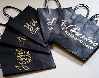 Personalized gift bags /party favor bags / kraft paper/