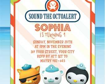 Octonauts Invitation Octonauts Birthday Octonauts Party