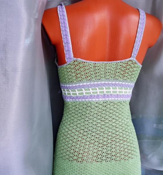 Beach cotton Dress crochet Sundress dress dress Lace ornament Light dress Woman Crochet mini Unique dress Handmade green Boho 0xSXHH