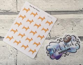 Chihuahua stickers for Erin Condren, Plum Paper, Filofax, Kikki K (DPD539)