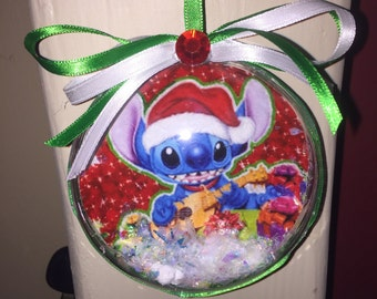 Disney stitch christmas ornament
