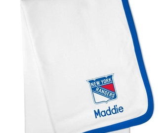 Personalized New York Rangers Baby Blanket