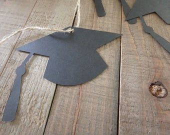 36 Graduation Hat Tags, Graduation Tags, Graduation Gift tags, Graduation gifts, 2018 Graduation