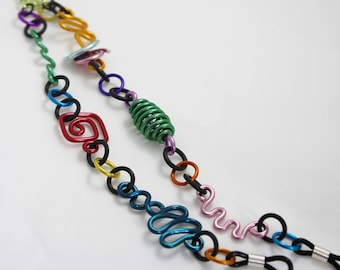 Multicolor Eyeglass Lanyard Necklace Chain Geometric shapes Aluminum Lightweight Fashionable Unique Stylish No. CL8