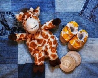 Giraffe Print Baby Shoes