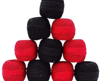 Mercerized Cotton Crochet Thread, 14 Pcs Embroidery Thread, Craft Supplies Accessories, Knitting Tatting Thread, MMT443A