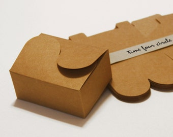 Set of 20, Kraft Cake Box, Gift Box, Favor, Gift, Party