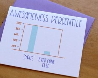Awesomeness Percentile Card
