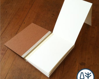 Simple Sketchbook with Blank Japanese Album Pages