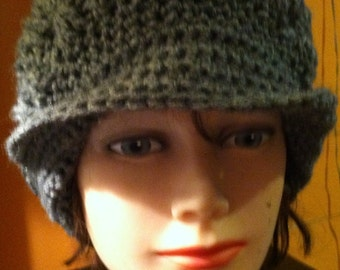 Made to Order Womens Peaked Brimmed Hat with Button Flap