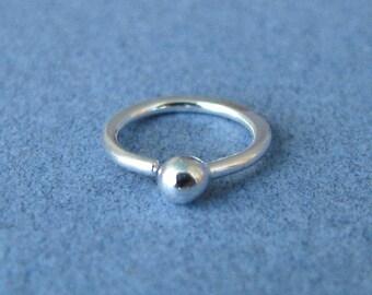 Cartilage Hoop Earrings, 20g Fine Silver Handmade Artisan Jewelry, 1 pair