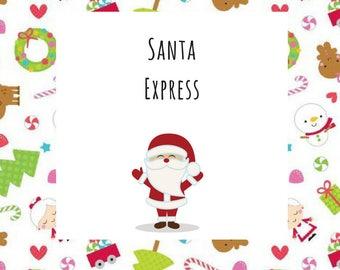 Winter/Christmas Collection Santa Express Dog Pet Tie On Bandana Neckerchief