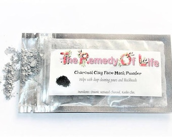 Charcoal Face Mask, Activated Charcoal, Blackhead Mask, Charcoal Clay Mask, Detox Mask, Natural Face Mask, Beauty Gift, Spa Party, Blackhead