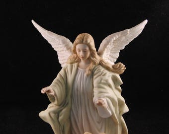 Vintage Guardian Angel figurine by Lefton China 1985