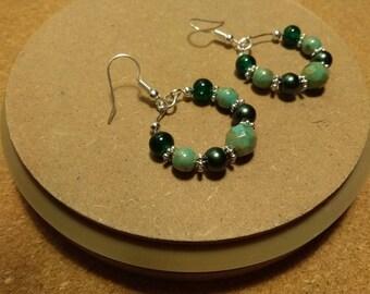 Hoop earrings, dangly earrings, silver earrings, unique earrings