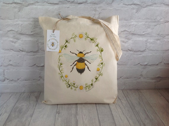 Plastic Free Bee Tote Bag